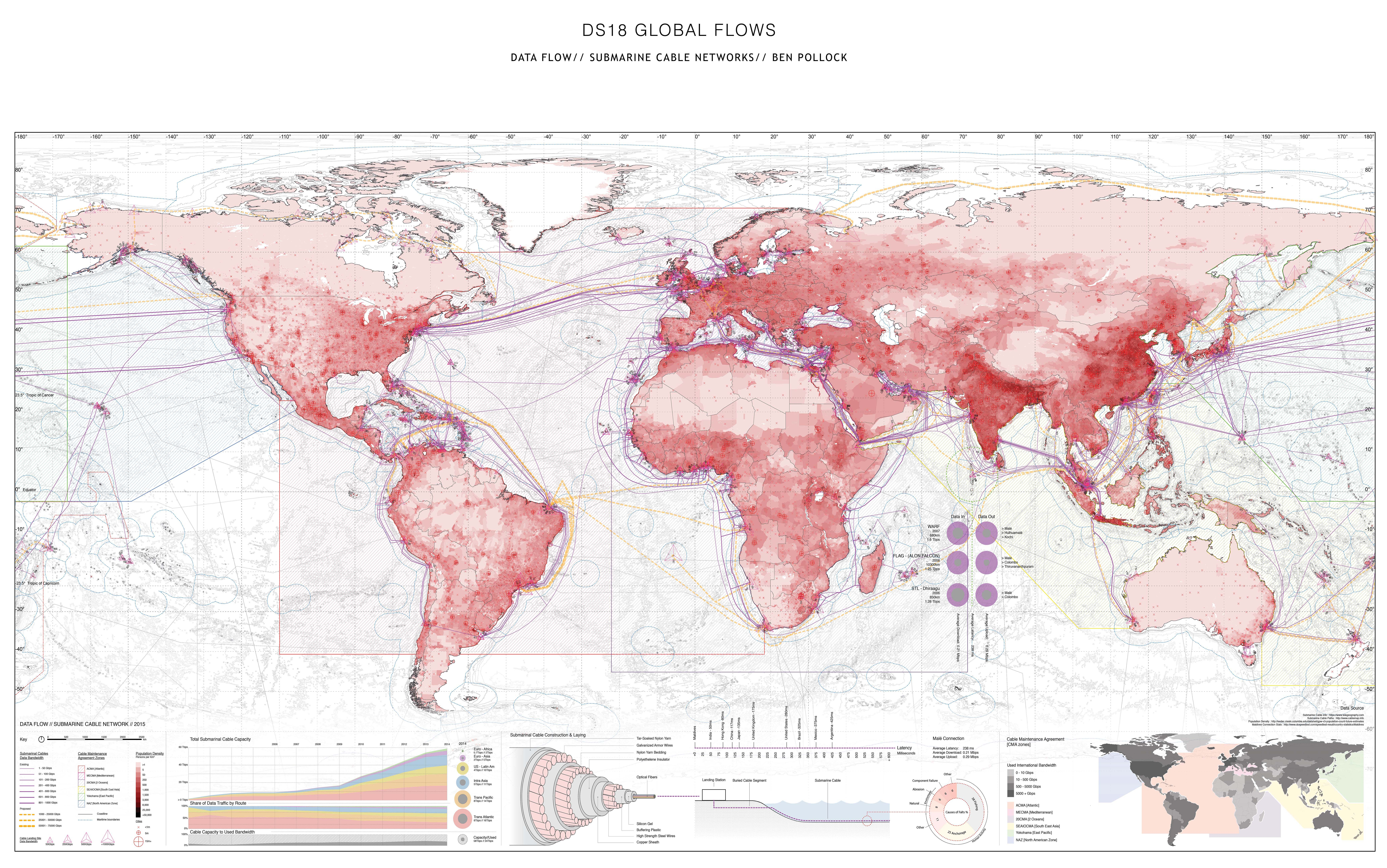 Map The Worlds Network Of Submarine Cables United Pacific Wiring Diagram
