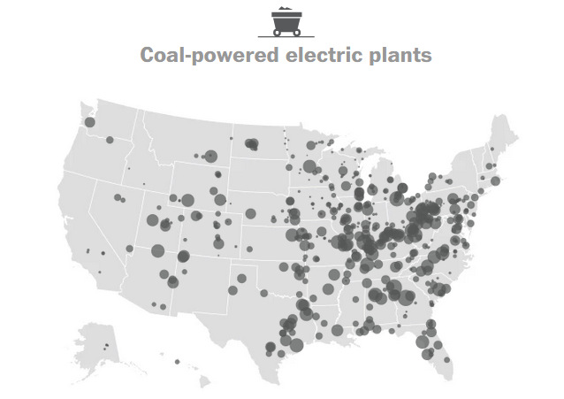 Mapping Every Power Plant In The United States Visual Capitalist - Coal-map-us