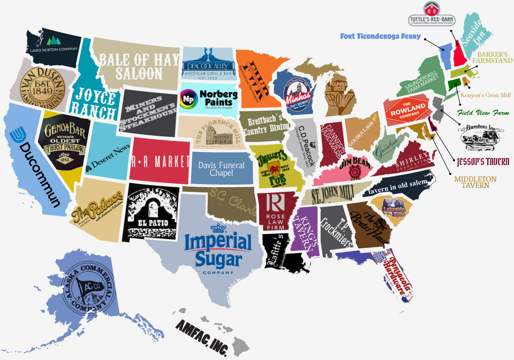 The Oldest Business in Each State