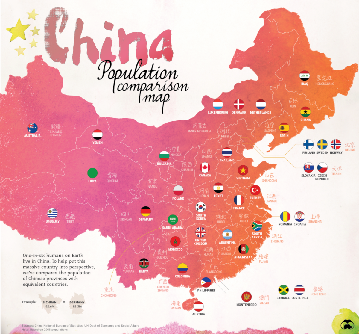 Map: China's Provinces Rival Countries in Potion Size on iran map, austria map, iraq map, chinese map, taiwan map, uk map, argentina map, europe map, china travel guide, bangladesh map, the silk road map, australia map, india map, egypt map, bulgaria map, croatia map, asia map, korea map, hong kong map, denmark map, canada map, japan map, china tour, africa map, united kingdom map, andorra map, saudi arabia map, brazil map, barbados map, cambodia map, russia map, belgium map, czech republic map, cyprus map, aruba map,