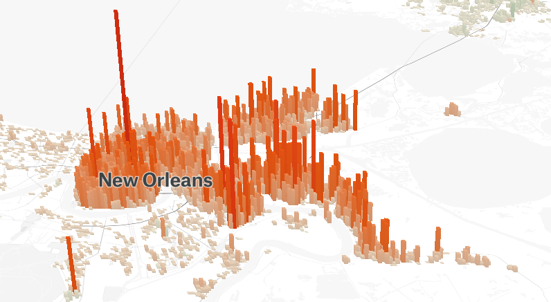 new orleans population map