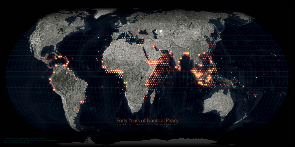 Map: Visualizing 40 Years of Nautical Piracy