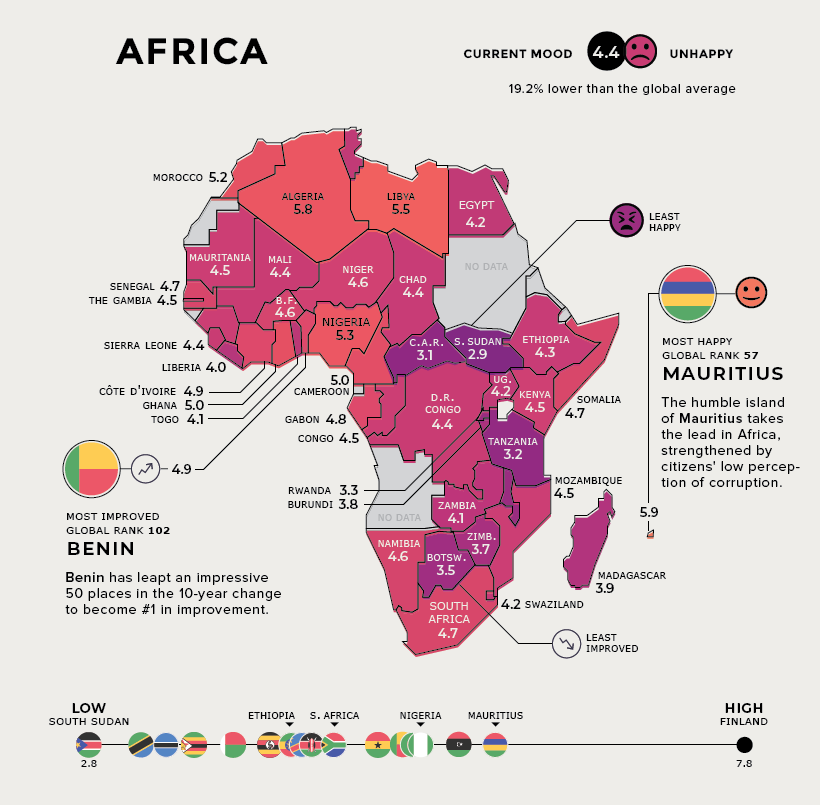 happiness africa map