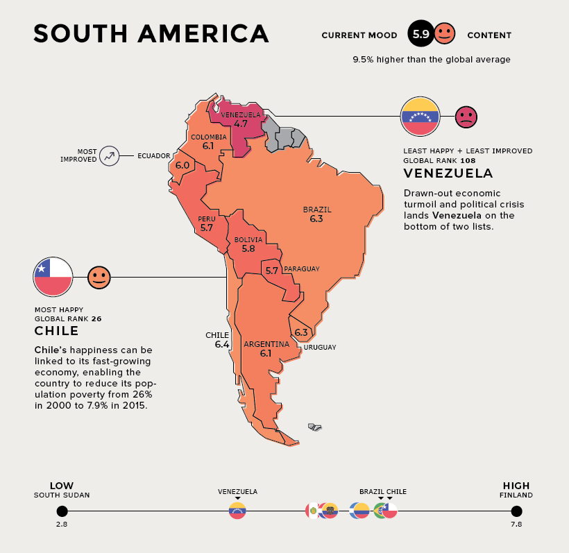 happiness south america map