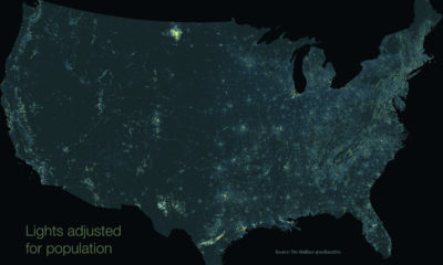 light pollution population adjusted