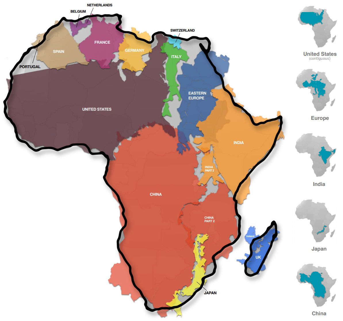 Mapped Visualizing The True Size Of Africa Visual Capitalist